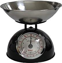 Dexam Balance de cuisine rétro en acier inoxydable Noir 24,7 x 24,7 x 24,7 cm