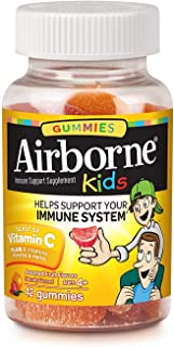 Airborne Kids Assorted Fruit Flavored Gummies, 42 count - 500mg of Vitamin C and Minerals & Herbs Immune Support (Packagin...