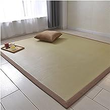 Bamboo Carpet Mat, Natural Fiber Rug Runner Non-slip Floor Mats Summer Cool Pad With Edge, Natural Bamboo Mat for Living R...