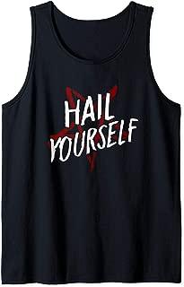 Hail Yourself LPOTL Hail Satan Pentagram Pentacle Horror Fan Tank Top