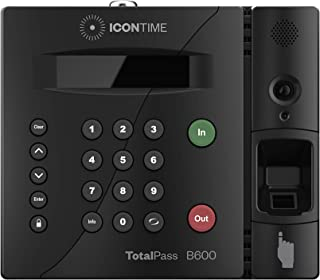 TotalPass B600 Biometric Employee Time Clock | 100% Identity Verification on Every Punch| Connect via USB, Network, Wi-Fi or Web| No Monthly Fees