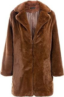 Simplee Women's Long Sleeve Faux Fur Coat Open Front Warm Jackets Outwear