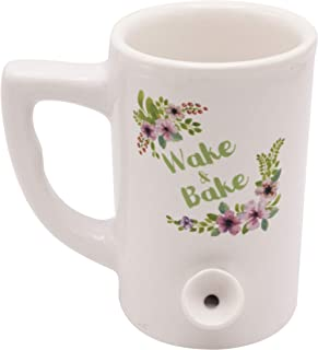 Island Dogs Floral Wake and Bake Novelty Gift Mug