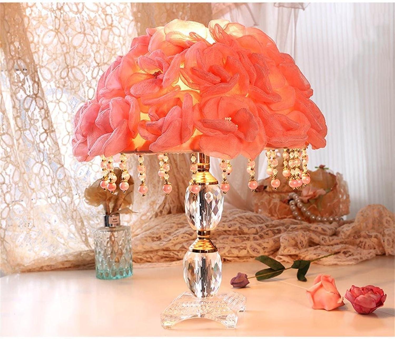 TOYM UK-Kreative Rosa Lampe Hochzeit Tischlampe Schlafzimmer Nachttischlampe B01CCQ8V1O   | Schön
