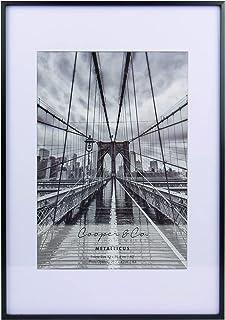Cooper & Co. Homewares A2 Matt to A3 Premium Metallicus Metal Photo Frames, Black (PF0019BK)