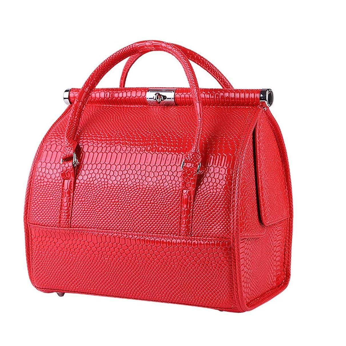 付与共和党偽善化粧オーガナイザーバッグ 女性の女性のための美容メイクアップのためのポータブル化粧品バッグ旅行と折り畳みトレイで毎日のストレージ 化粧品ケース