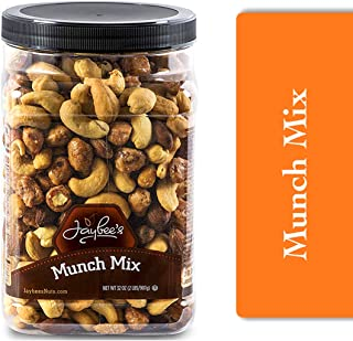 Jaybees Nuts Trail Munch Mix 32 oz - Variety of Mixed Nuts Featuring Roasted Salted Cashews, Smoked Almonds, Toffee & Hone...