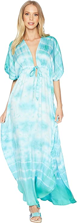 Green Dragon South Beach Tie-Dye Ashley Maxi Kaftan