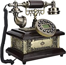 $96 » T osuny Antique Telephone, Retro Vintage Classical Landline Telephone, FSK/DTMF Caller Identification,Hands Free, Call wit...