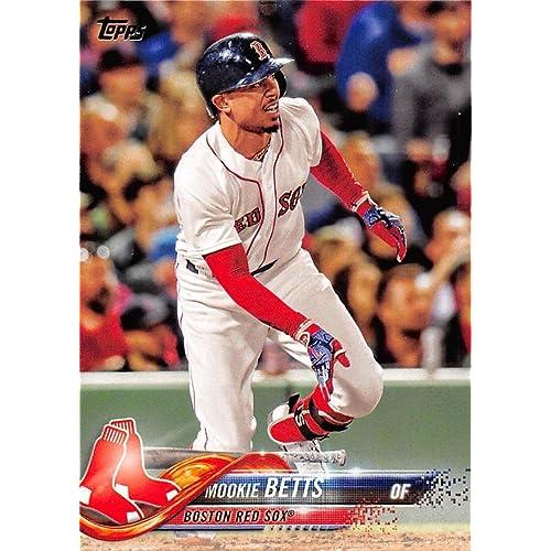 8f42d5b04fc Amazon.com  2018 Topps  140 Mookie Betts Boston Red Sox Baseball Card   Collectibles   Fine Art