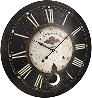 Things2Die4 23 Inch Diameter Kensington Station Pendulum Wall Clock
