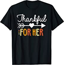 Matching Thanksgiving Couples Pair Funny Outfit T-Shirt
