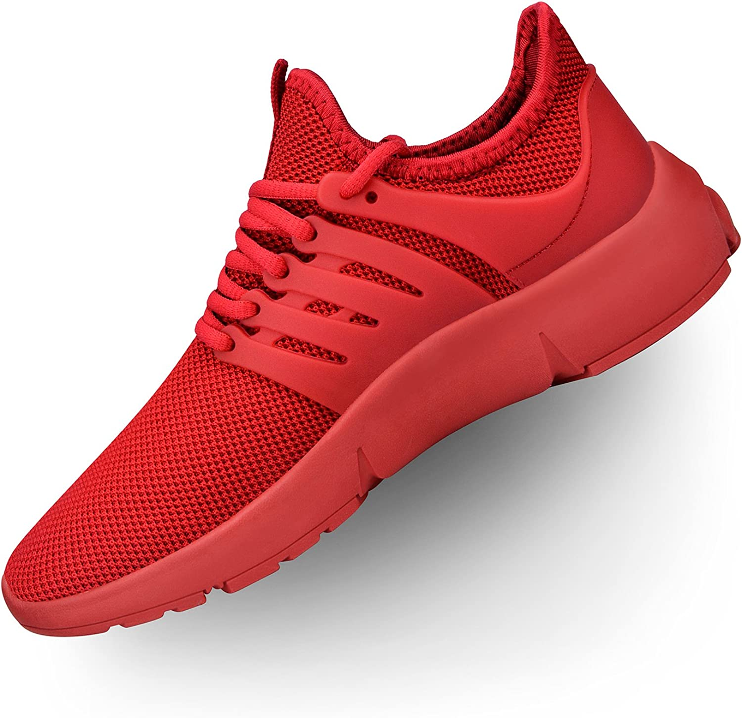 Troadlop Womens Running shoes Lightweight Non Slip Breathable Mesh Sneakers Sports Athletic Walking shoes Red 5 M US