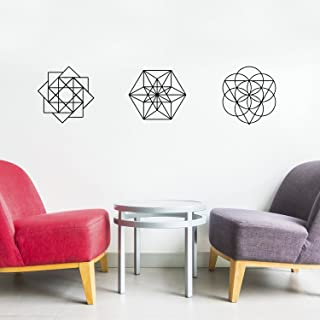 Set Of 3 Vinyl Wall Art Decal - Sacred Geometric Shapes - 13