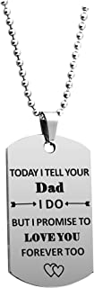 JINGMARUO Stepson Gift Stepdaughter Gift Today I Tell Your Dad/Mom I Do But I Promise to Love You Forever Too Necklace Gif...