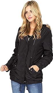 Women's Juniors Hooded Sherpa Lined Jacket