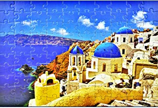 100 Pieces Jigsaw Puzzles for Children Kids Adults Aegean Sea Jigsaw Puzzles 15 x 10 Inches
