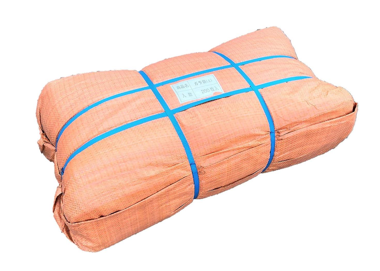 アミューズ合図訴えるガラ袋 厚手 200枚入り 60cm×90cm ベージュ ごみ袋 雑袋 強力ガラ袋
