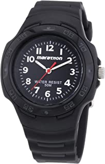 Timex Marathon Unisex Quartz Watch with Analogue Display and Resin Strap