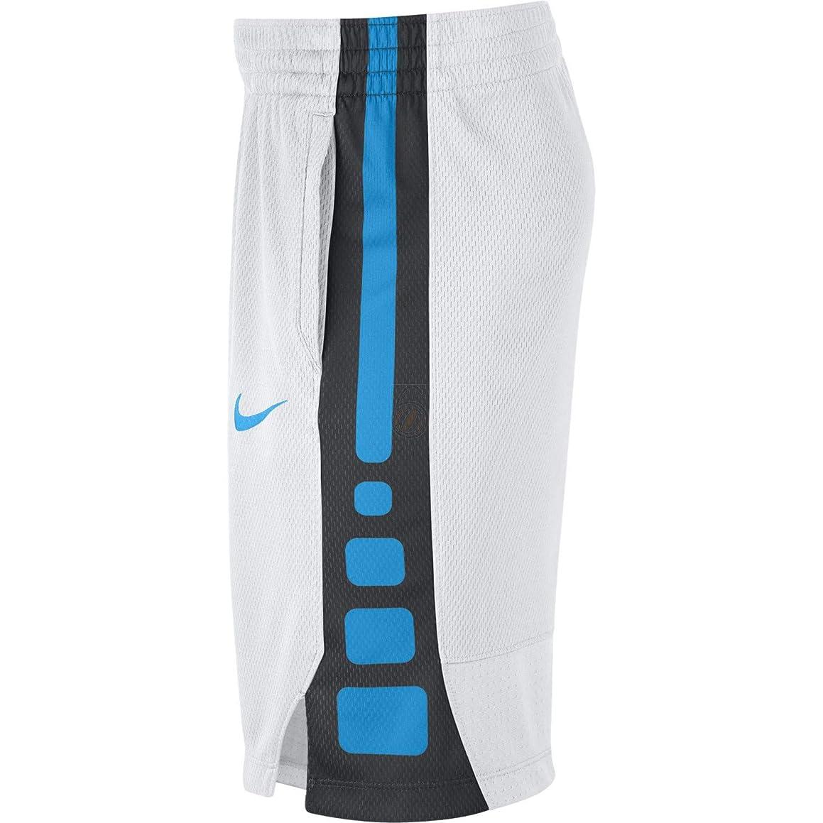 Nike Boy's Elite Dry Basketball Shorts Big Boy's (8-20) White/Blue