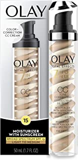 CC Cream by Olay, Total Effects Tone Correcting Moisturizer with Sunscreen, Light to Medium 1.7 fl. oz. Packaging may Vary