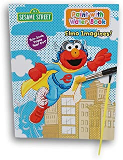 Greenbrier Sesame Street Elmo Imagines Paint with Water Book with Paintbrush