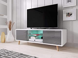 Vivaldi Sweden– Mueble TV escandinavo, Color Blanco Mate