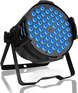 Betopper DJ Par Stage Lights LED Uplights 54x3W RGB Wash Light DMX Lighting for Wedding,Church,Party,Music Live Show,Club etc.