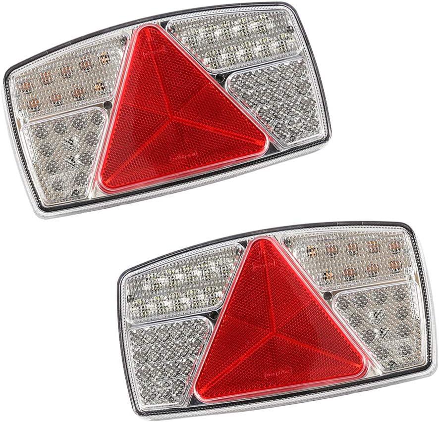 Aohewei Led Anhänger Rückleuchten Bremsleuchte Für Lkw Heckleuchten Indikator Beleuchtung Mit Reflektor Wasserdicht Für Anhänger Lkw Wohnwagen Landwirtschaftliche Maschinen 55 Led Chips 2 Stück Auto