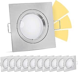 LEDOX 5er LED Set MOON GU10 6W 4000k dimmbar Einbau Leuchte Lampe Strahler Spot