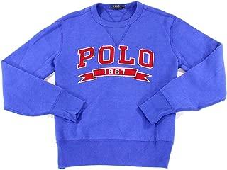 Men's Cotton Blend Fleece Lined Pullover Crewneck Sweatshirt