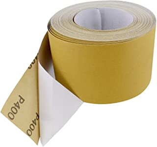 ABN Adhesive Sticky Back 400-Grit Sandpaper Roll 2-3/4in x 20 Yards Aluminum Oxide Golden Yellow Longboard Dura PSA