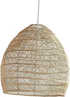 Baoblaze Bambou Tissé Lumière Creative Lustres Décoratif Pendentif Lumière Luminaires Suspendus En Osier Lumière pour Sall...