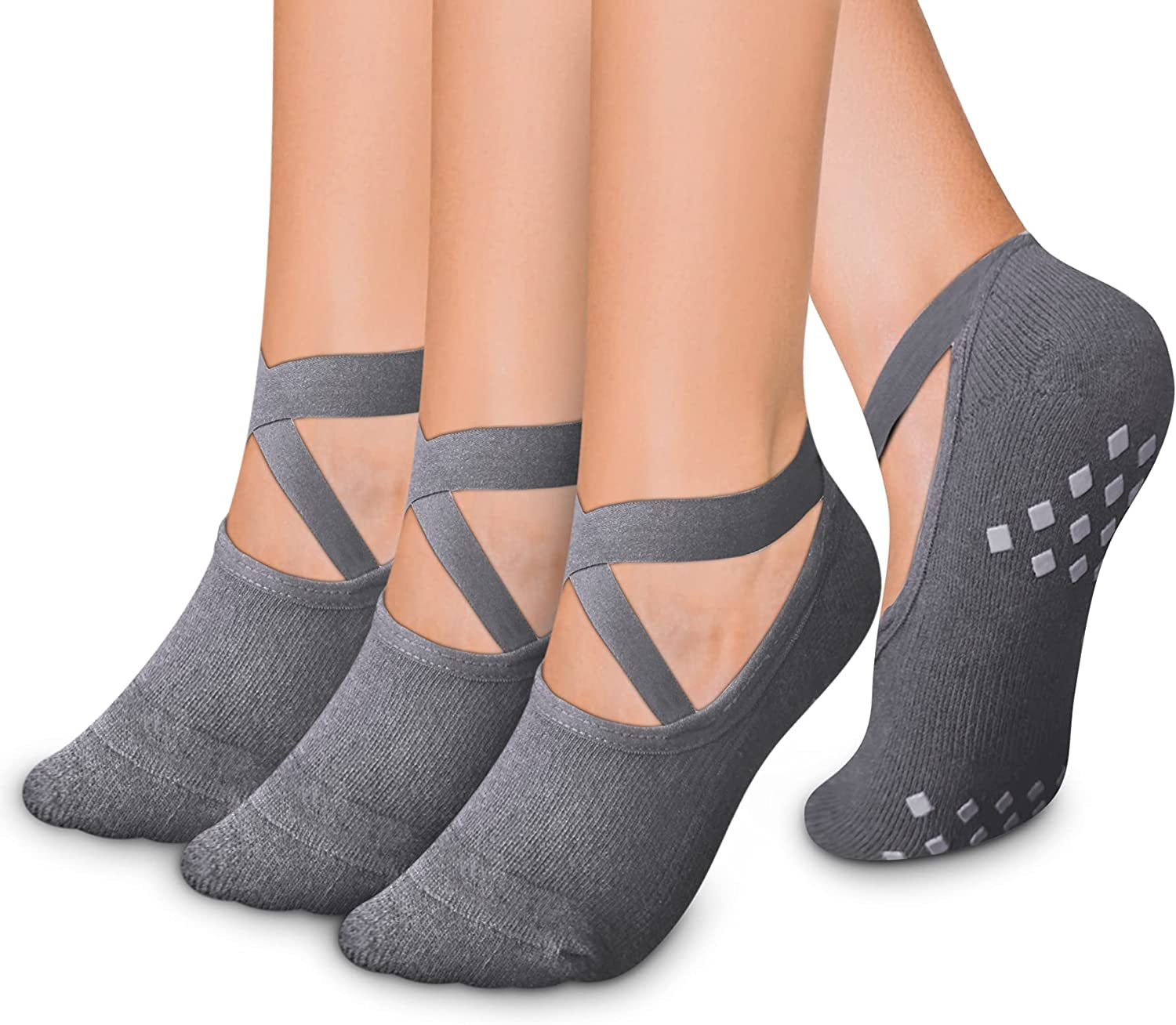 Yoga Socks with Grips for Women Barre Pure Non B supreme Same day shipping Slip Pilates