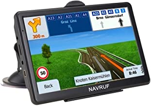 GPS Navigation for Car , Truck 7 Inch 8GB Touch Screen Voice Navigation Vehicle GPS, Speeding Warning, Route Planning, Fre...