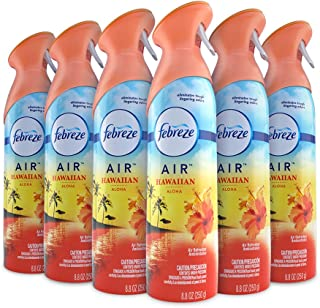 Febreze Air Freshener and Odor Spray, Hawaiian Aloha Scent, 8.8 Oz 6 Pack