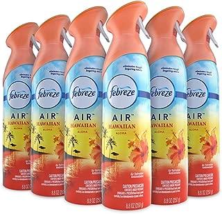 Febreze Air Freshener and Odor Spray, Hawaiian Aloha Scent, 8.8 Oz 6 Pack
