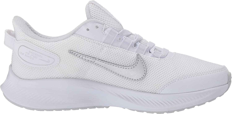Nike W Runallday 2, Chaussure de Course Femme White Metallic Silver Pure Platinum