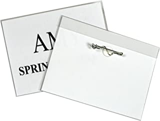 C-Line Pin Style Name Badge Holders with Inserts, 3 x 4 Inches, 100 per Box (94043)