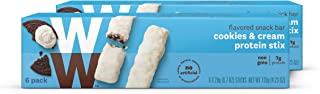 WW Cookies and Cream Protein Stix - High Protein Snack Bars, 2 SmartPoints - 2 Boxes (12 Count Total) - Weight Watchers Reimagined