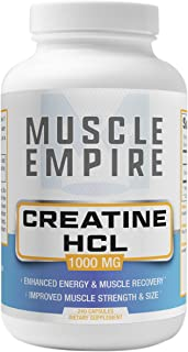 Creatine HCl Capsules - Muscle Building & Recovery Support - 240 Count - Muscle Empire