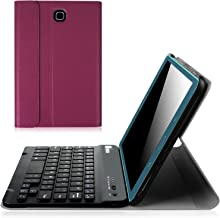 Fintie Keyboard Case for Samsung Galaxy Tab A 8.0 (2015) - Slim Shell Light Weight Stand Cover with Magnetically Detachable Wireless Bluetooth Keyboard for Tab A 8.0 (SM-T350/T355), Purple