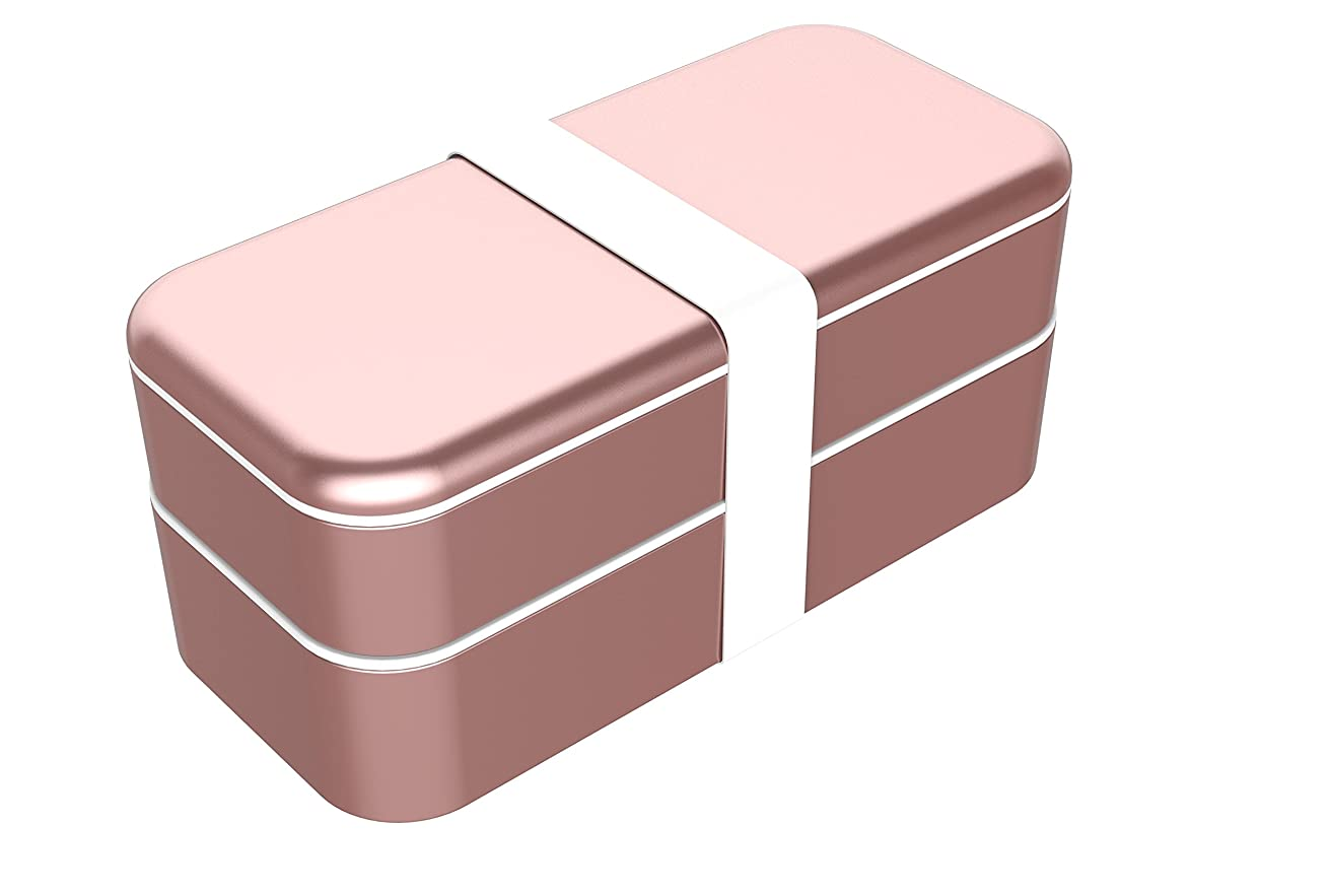 Function101 BentoStack Travel Case and Desktop Organizer - Compatible with Apple Products and Accessories - Rose Gold