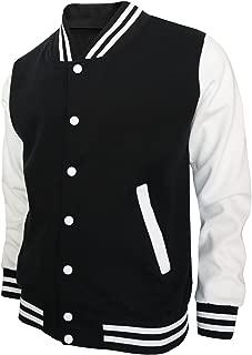 BCPOLO Baseball Jacket Varsity Baseball Cotton Jacket Letterman Jacket 8 Colors