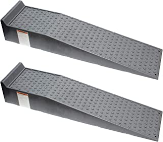 BISupply Vehicle Service Ramp Set – 6.6in Car Lift, 5 Ton Heavy Duty Truck Ramps for Vehicle Maintenance, 2 Pack