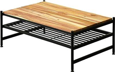 ガーデンガーデン アイアン*ウッド アカシア センターテーブル 幅91cm×奥行60.5cm×高さ35.5cm 天然木製 オイル仕上げ ACT-90