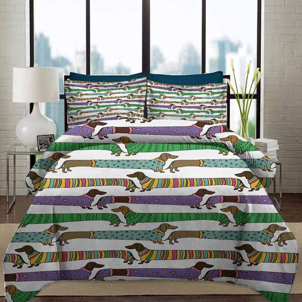Dog Lover Duvet Cover Set Twin 新作製品、世界最高品質人気! Dre Size Dachshunds キャンペーンもお見逃しなく Style Cartoon