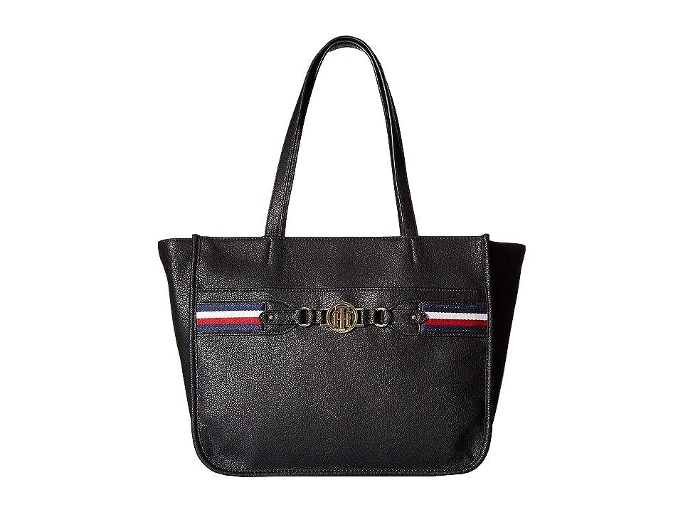 Tommy Hilfiger Brice Tote (Black) Tote Handbags