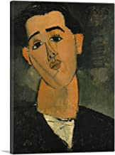ARTCANVAS Portrait of Juan Gris 1915 Canvas Art Print by Amedeo Modigliani - 18