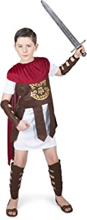 Gladiator Costume Kids, Roman Soldier Centurion, Boys 7-8 Years